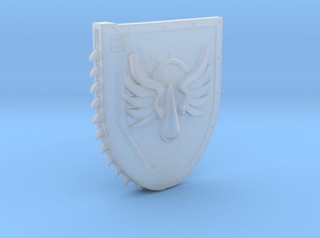 Left-handed Chainshield (Flying Tear design) in Smooth Fine Detail Plastic: Small