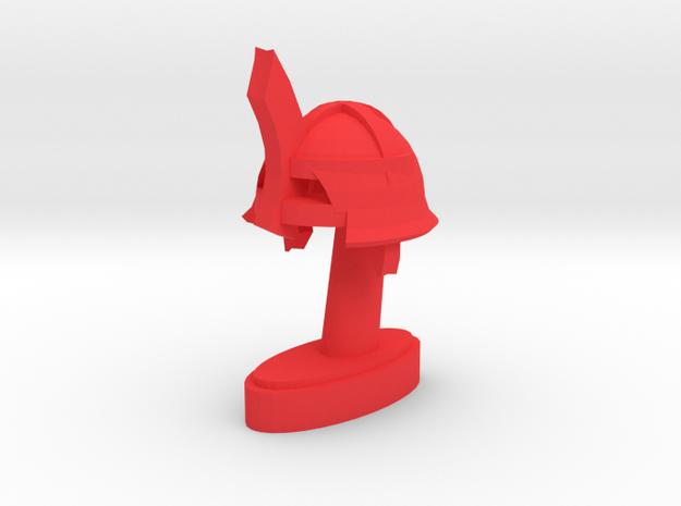Playfigure Ork Helmet in Red Processed Versatile Plastic