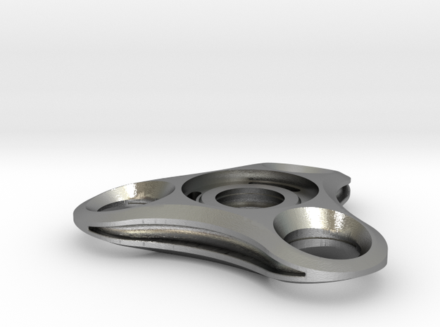 Micro Mini solid fidget spinner in Natural Silver