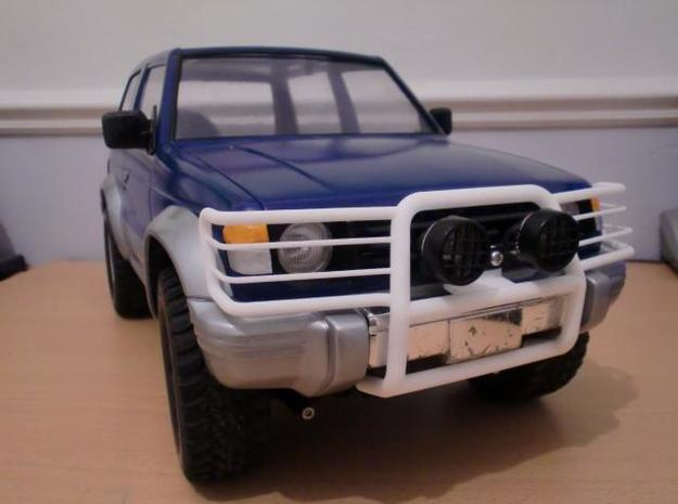 Tamiya Pajero front guard in White Natural Versatile Plastic