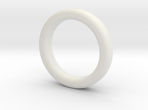 Weight ring for the chodeleri begleri bead in White Natural Versatile Plastic: Medium