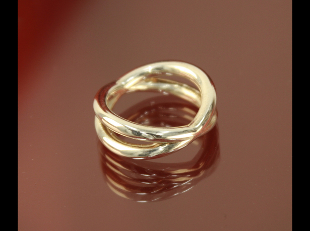 """Orbit Ring"" (Thick) Size 6  in Fine Detail Polished Silver"
