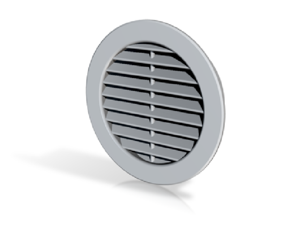 Vent Insert - 50mm hole internal louvers in White Natural Versatile Plastic