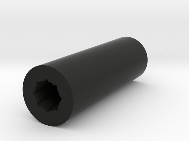 Rifled Silencer in Black Natural Versatile Plastic