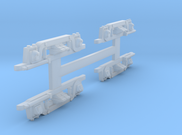 N Scale Brill MCB Truck Sideframes Set of 4 in Smooth Fine Detail Plastic
