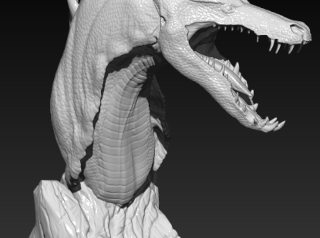 The Tuurasucha - Creature Sculpture 3d printed ZBrush Render