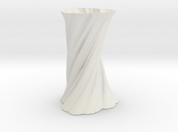 Vase 461 in White Natural Versatile Plastic