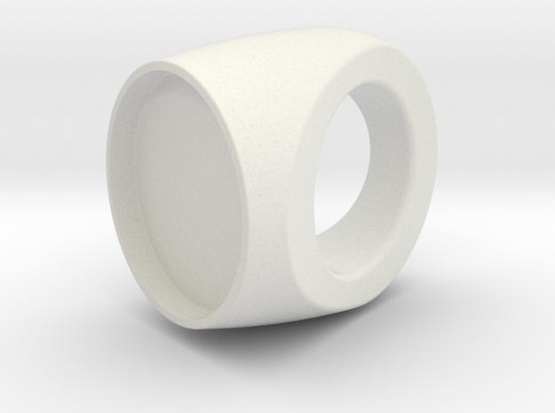 Custom Ring 76 US 9 in White Natural Versatile Plastic