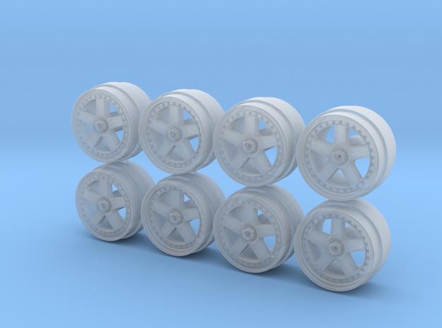 Calsonic R32 Skyline Centerlock Hot Wheels Rims in Smooth Fine Detail Plastic
