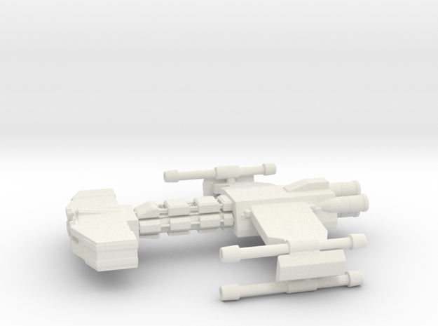 Behemoth-class Battlecruiser 1:7000  in White Natural Versatile Plastic