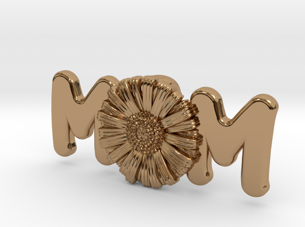 Daisy Mom Pendant in Polished Brass: Extra Small