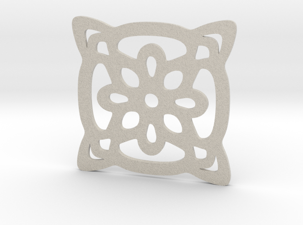 Cup coaster - pattern II in Natural Sandstone