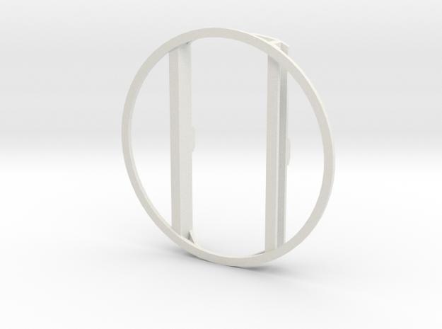 L&Y Bogie top ring in White Natural Versatile Plastic