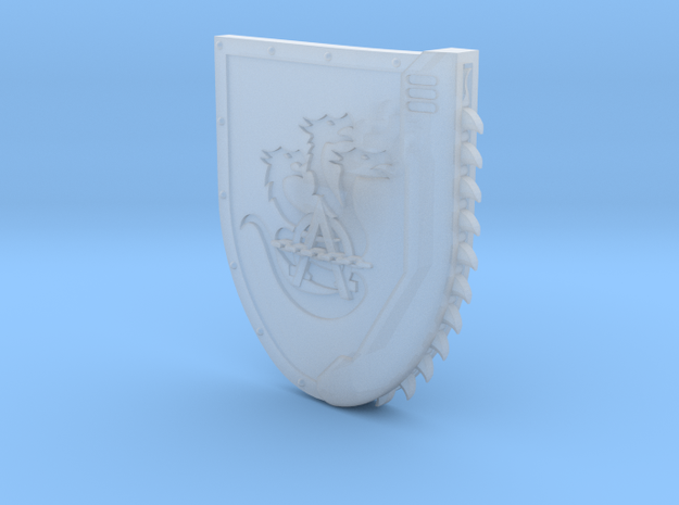 Right-handed Chainshield (Hydra Chain design) in Frosted Ultra Detail: Small