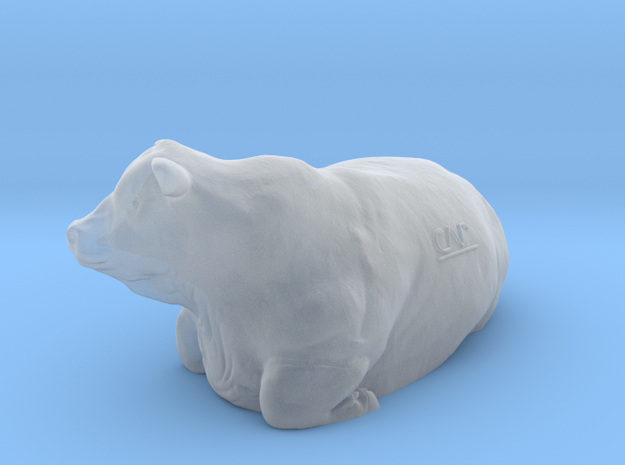 1/87 Lying Polled Bull Right Turn in Frosted Ultra Detail