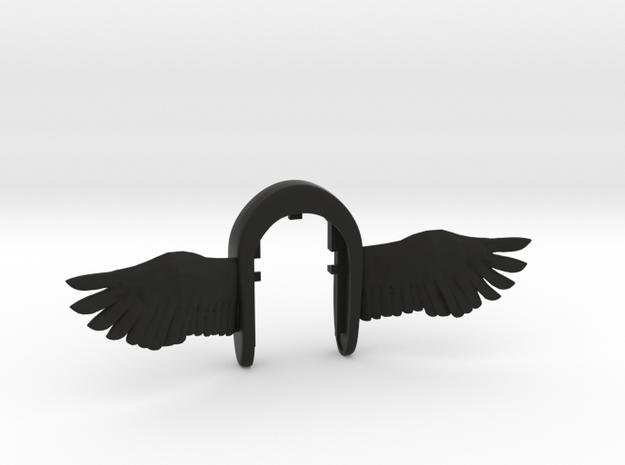 Wings vs3 key fob  in Black Natural Versatile Plastic