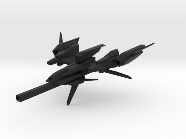 F-981A Space Fighter in Black Natural Versatile Plastic