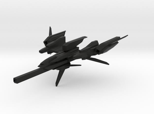 F-981A Space Fighter in Black Natural Versatile Plastic