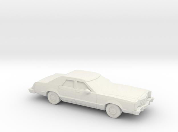 1/24 1977-79 Ford LTD II Sedan in White Natural Versatile Plastic