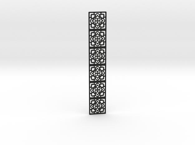 Lacy pattern bookmark in Black Premium Versatile Plastic