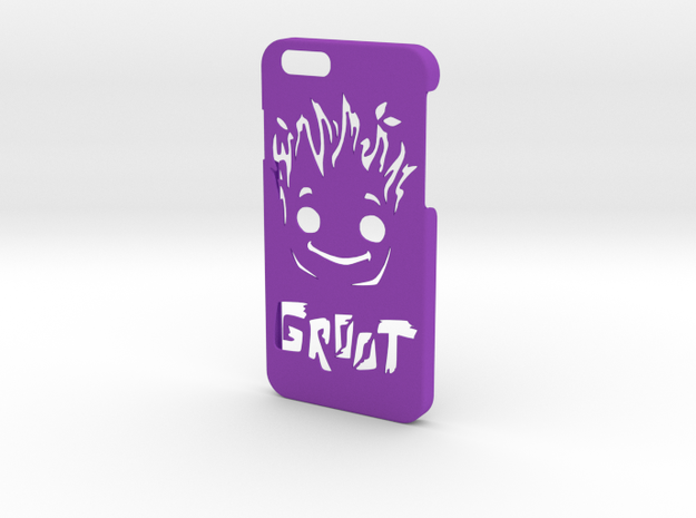 Baby Groot Phone Case- iPhone 6/6s in Purple Processed Versatile Plastic