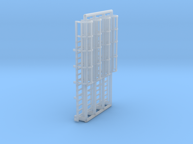 N Scale Cage Ladder 30mm (Top) in Smooth Fine Detail Plastic