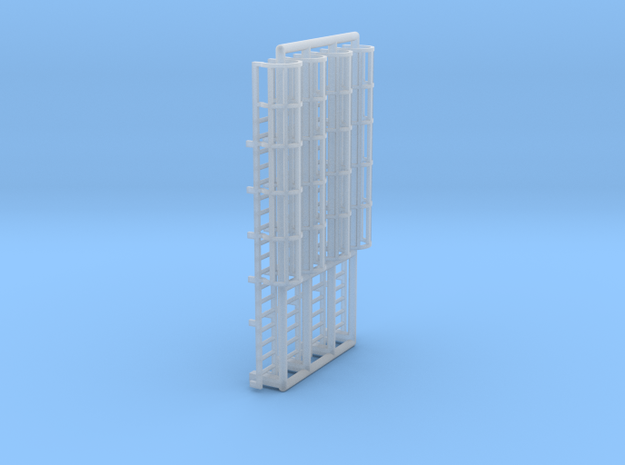 N Scale Cage Ladder 36mm (Top) in Smooth Fine Detail Plastic