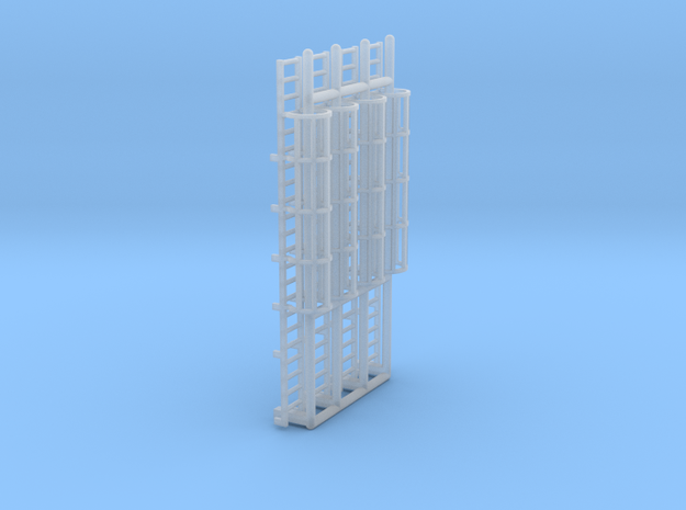 N Scale Cage Ladder 44mm (Platform) in Smooth Fine Detail Plastic