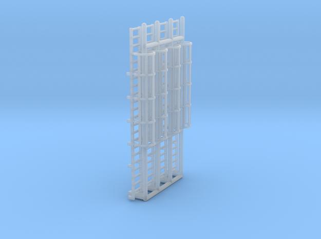 N Scale Cage Ladder 44mm (Platform) in Smooth Fine Detail Plastic
