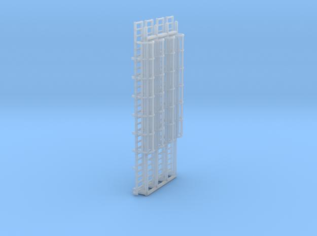 N Scale Cage Ladder 56mm (Platform) in Smooth Fine Detail Plastic