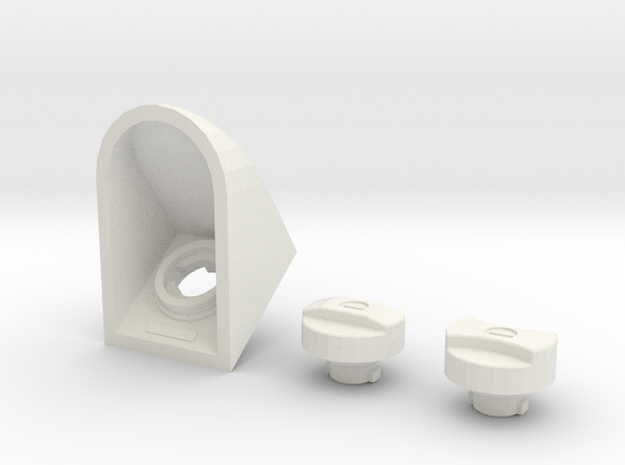 Functional fuel filler cap D90 D110 Team Raffee in White Natural Versatile Plastic