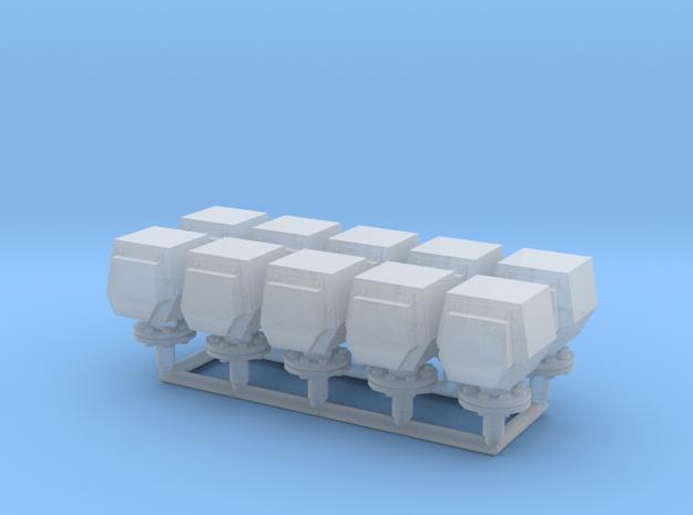 10 ventilation heads - 10 Lüfterköpfe_typ3, 1:50 in Smooth Fine Detail Plastic