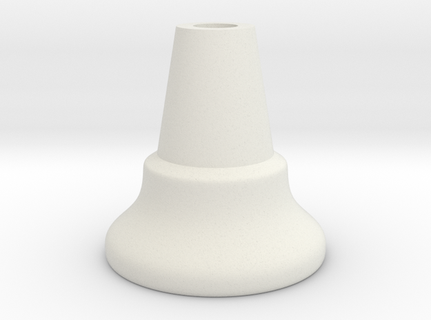 Chess Piece - Pawn (middle) in White Premium Versatile Plastic