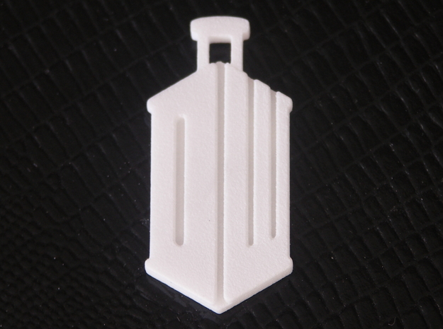 Dr Who Logo Pendant 3d printed Printed in WSF