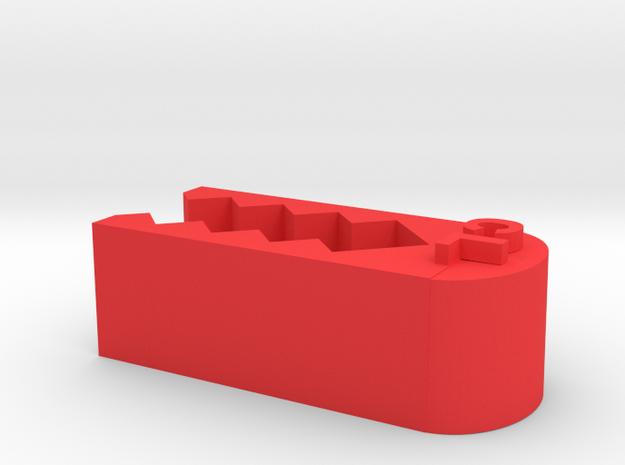 La Clip in Red Processed Versatile Plastic