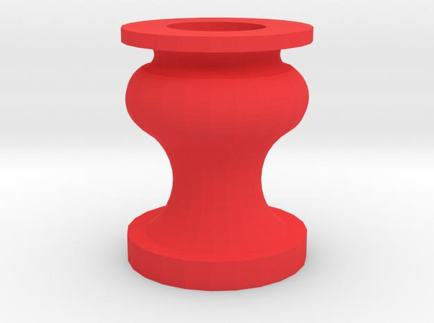 The Vase in Red Processed Versatile Plastic