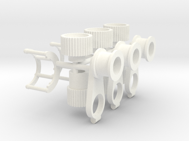 Blower pulleys 1/12 x3 w/guard in White Processed Versatile Plastic