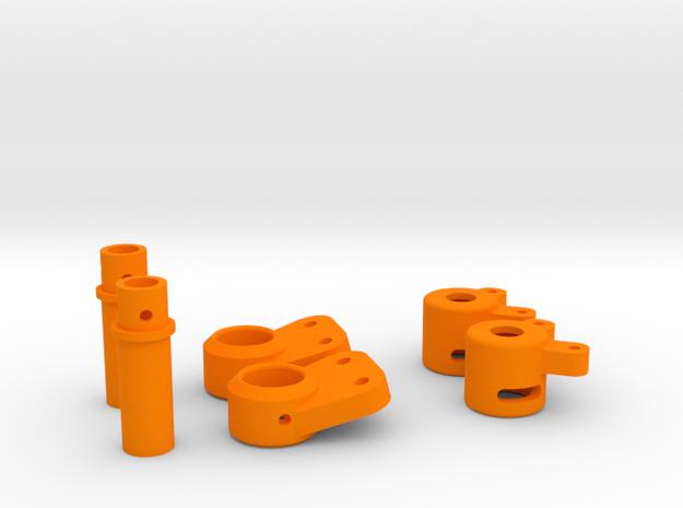 AR-X Tube Adaptor for SSD Diamond 44 pumpkin in Orange Strong & Flexible Polished