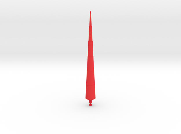 Steel Jeeg Lance Missile in Red Processed Versatile Plastic