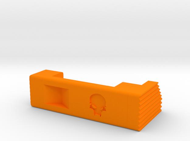 MSK extended mag release (left) in Orange Processed Versatile Plastic