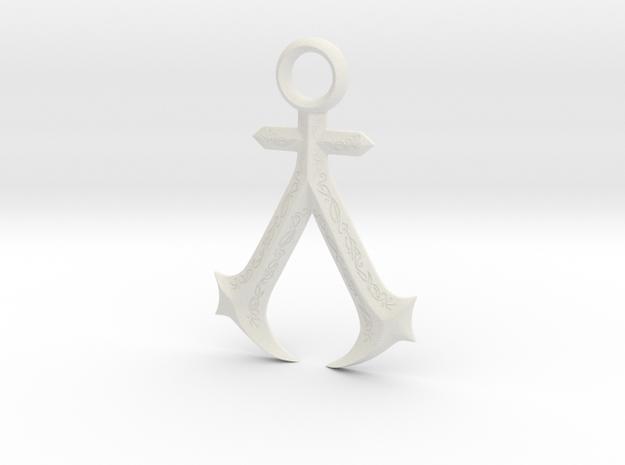 New England Assassins Emblem in White Premium Strong & Flexible