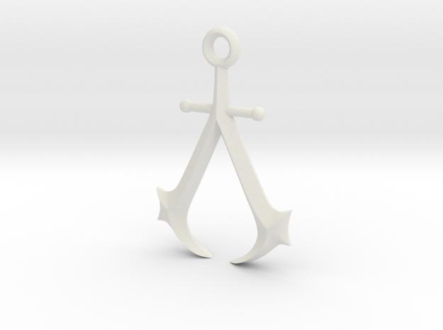 New England Assassin's Emblem in White Premium Versatile Plastic