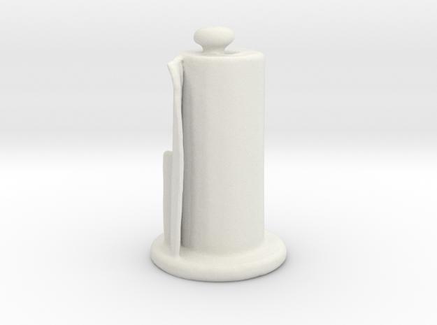 Paper Towel Holder in White Natural Versatile Plastic