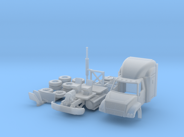 Dina HTQ truck in HO scale in Smoothest Fine Detail Plastic