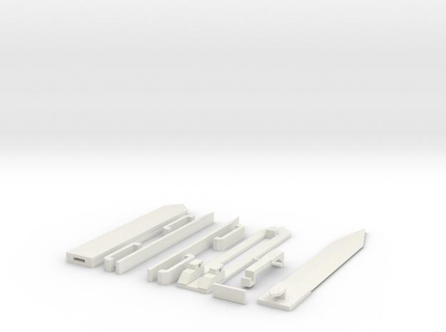 Hidden Blade OTF One Action in White Natural Versatile Plastic