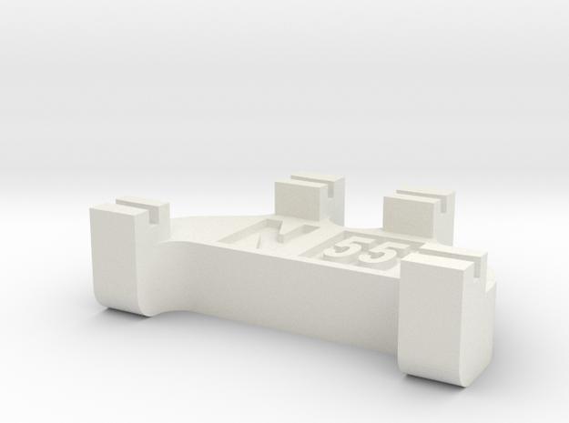N Scale Track Gauge - Code 55 in White Natural Versatile Plastic
