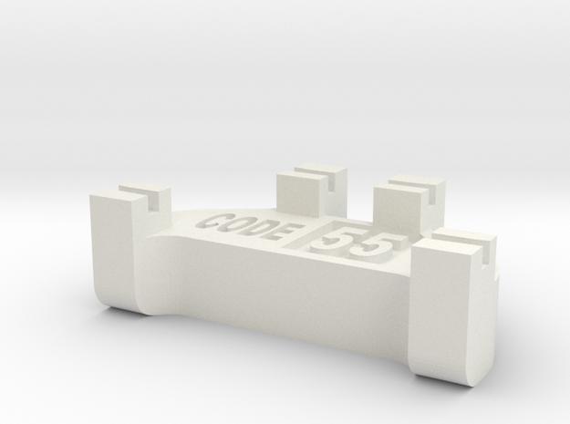 HOn2 Track Gauge - Code 55 in White Natural Versatile Plastic