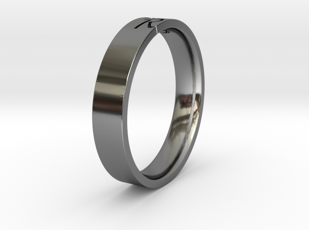 Ring with character in Fine Detail Polished Silver