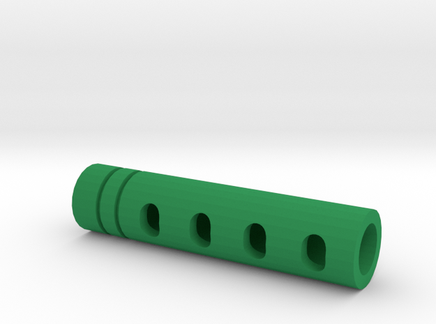 Super DMR Muzzle Tip (14mm Self-Cutting Thread) in Green Strong & Flexible Polished