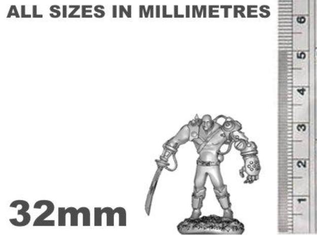 Mech Warrior1 32mm high 3d printed 32mm Tall